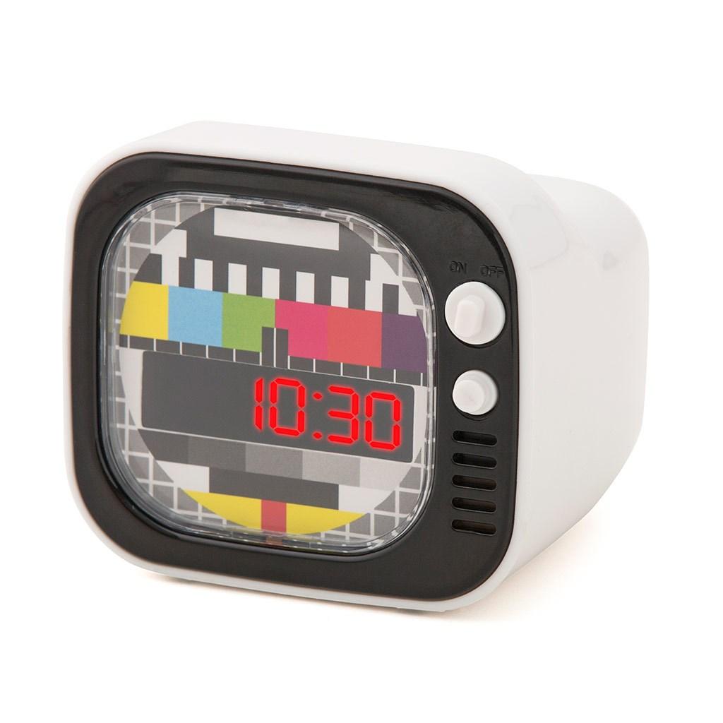Alarm clock TV white
