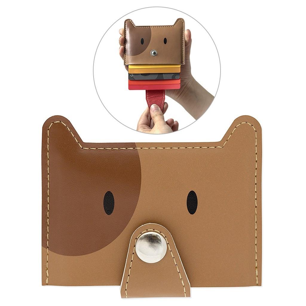 Credit card holder Zoo-wallet brown