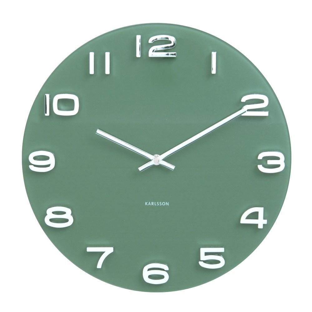 wall clock vintage jungle green karlsson ka5640gr. Black Bedroom Furniture Sets. Home Design Ideas