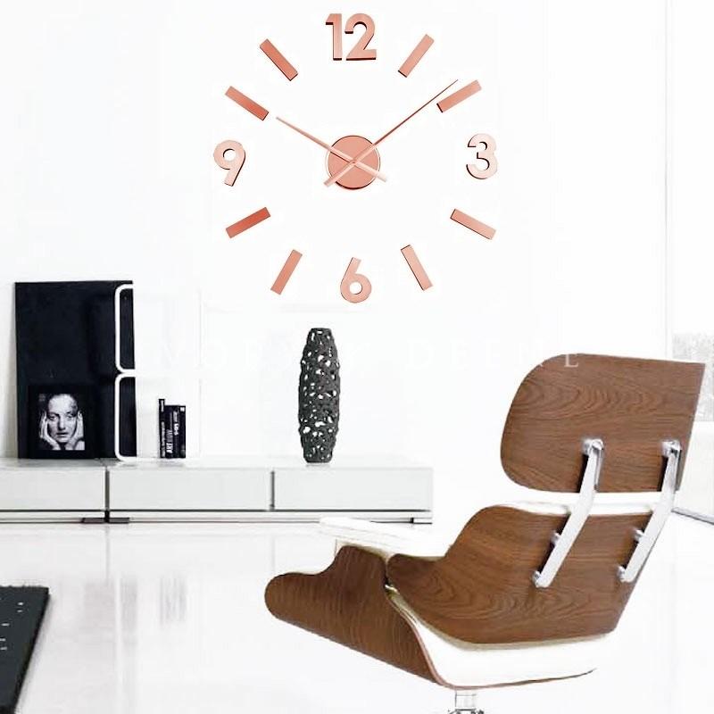 ΚΛΙΚ ΓΙΑ ΜΕΓΕΘΥΝΣΗ Ρολόι Τοίχου Αυτοκόλλητο DIY Aluminium Copper. ΚΛΙΚ ΓΙΑ  ΜΕΓΕΘΥΝΣΗ 84265dcb3a1
