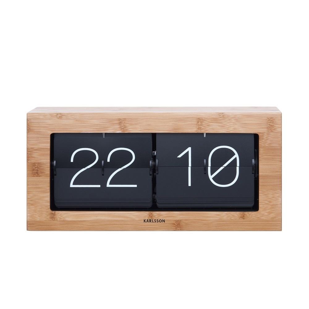 44ce75f5a47 Ρολόι Flip Karlsson Boxed Bamboo XL | Karlsson KA5642WD