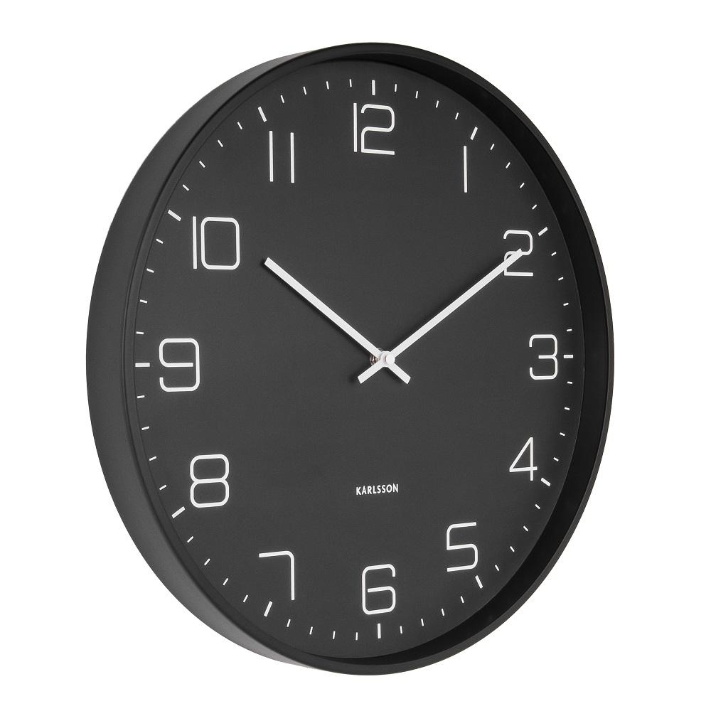 Ρολόι Τοίχου Karlsson Lofty Matt Black  c87b810b20d