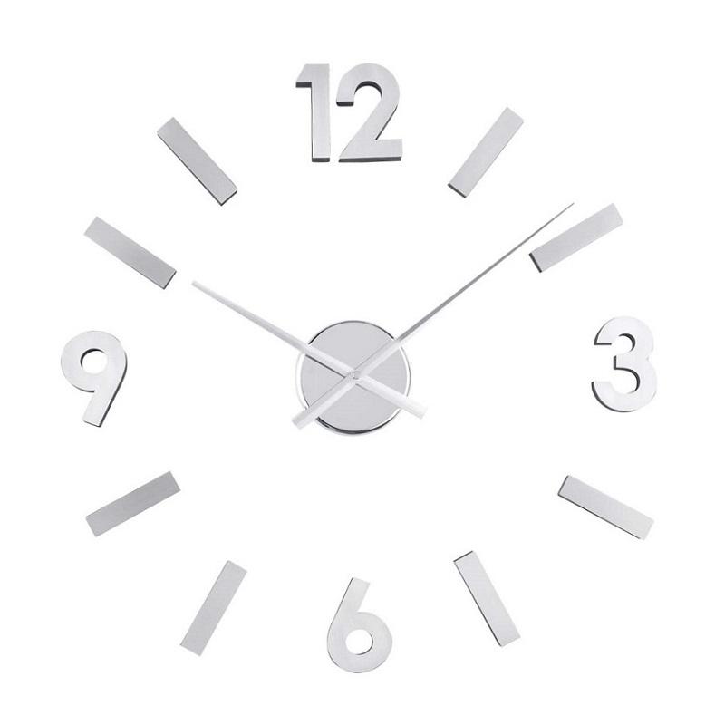 ΚΛΙΚ ΓΙΑ ΜΕΓΕΘΥΝΣΗ Ρολόι Τοίχου Αυτοκόλλητο DIY Aluminium a9abc58a74d