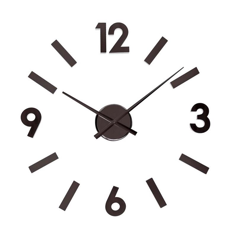 ΚΛΙΚ ΓΙΑ ΜΕΓΕΘΥΝΣΗ Ρολόι Τοίχου Αυτοκόλλητο DIY Aluminium Black 2ba54d64aaf