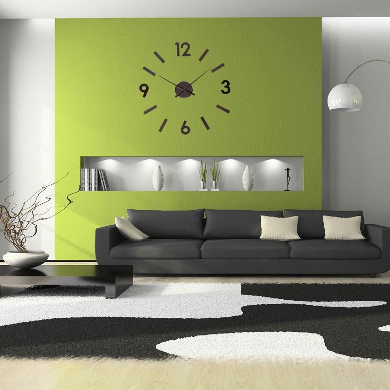 ΚΛΙΚ ΓΙΑ ΜΕΓΕΘΥΝΣΗ Ρολόι Τοίχου Αυτοκόλλητο DIY Aluminium Black. ΚΛΙΚ ΓΙΑ  ΜΕΓΕΘΥΝΣΗ 9ec175e3b76