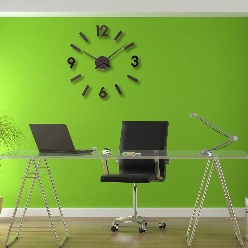Ρολόι Τοίχου Αυτοκόλλητο DIY Aluminium Black. ΚΛΙΚ ΓΙΑ ΜΕΓΕΘΥΝΣΗ 6a709ba0d89