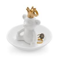 Ring holder The King white ceramic