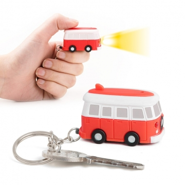 Key ring Van with sound & led red
