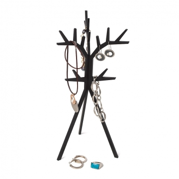 Jewellery rack TreeD black