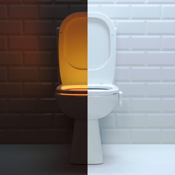 Toilet light Saturn with motion sensor