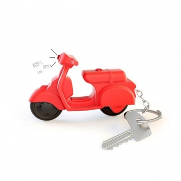 Key ring Scooter with sound red - octopus.gr