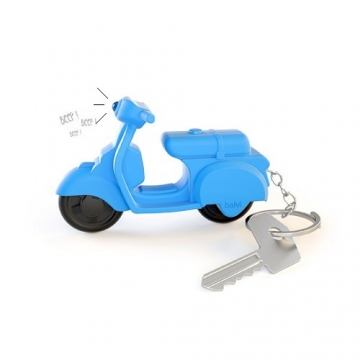 Key ring Scooter with sound blue - octopus.gr