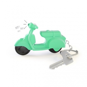 Key ring Scooter with sound green - octopus.gr