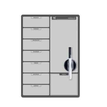 Fridge board Shopping List BW magnetic